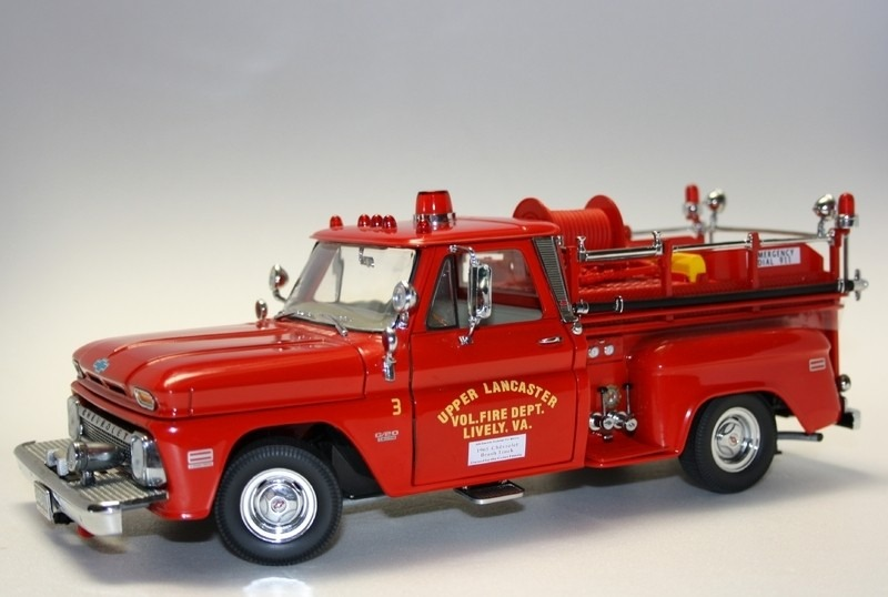 1965 chevrolet c 20 fire truck 1 18 sunstar 1 999 00 en mercado