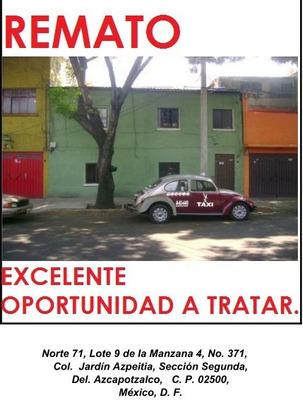 Casa Departarmentos Del. Azcapotzalco Mexico Df.