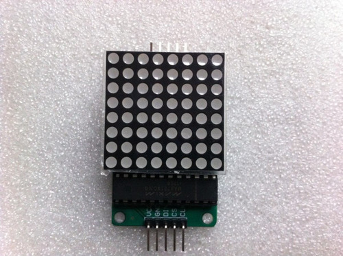 arduino: display de matriz de led con max7219 de 8x8 leds