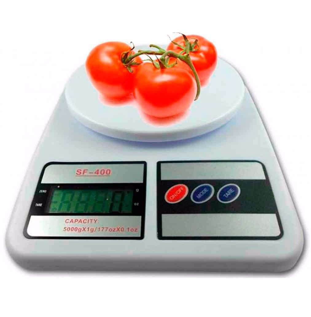 Balanza peso digital de cocina hasta 7kg x 1g model sf - Balanza cocina digital ...