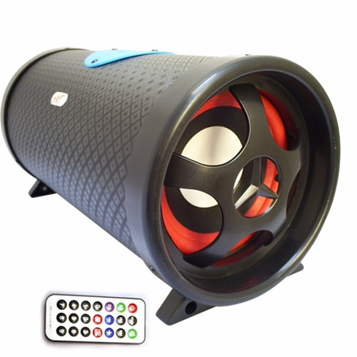 bazooka amplificada 5 pulg 300w micro sd usb mp3 subwoofer