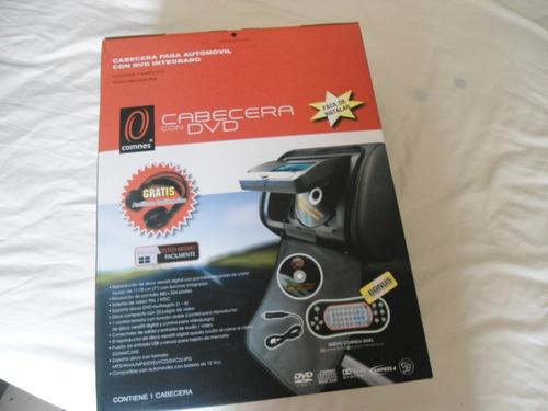 cabecera con dvd para auto con entrada  usb y sd + audifonos