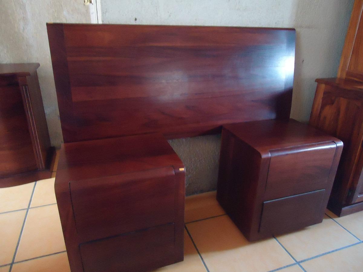 Cabesera y buros estilo moderno madera solida de parota for Imagenes de buros para recamara