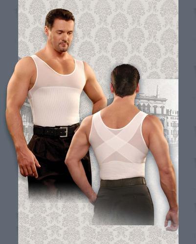 camiseta remodeladora de hombre. marca kisha