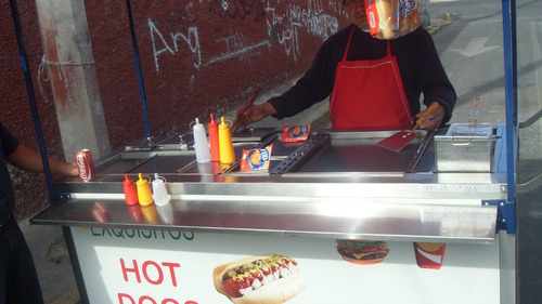 carrito para hot dog y amburguesa profesional 1.9 largo flr