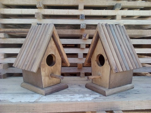 Casas para pajaros de madera al natural en - Casas de madera natural ...