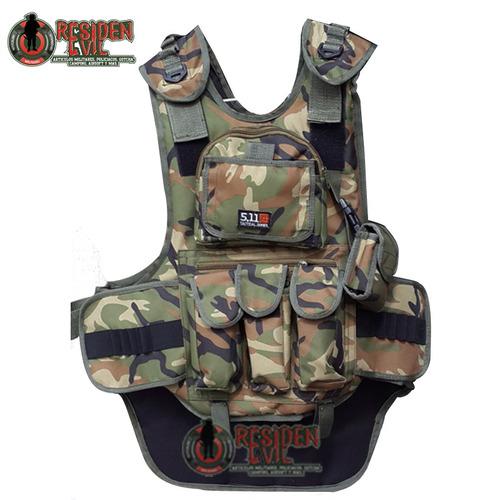 chaleco tactico gotcha tipo 5.11 con portapods porta-tanque