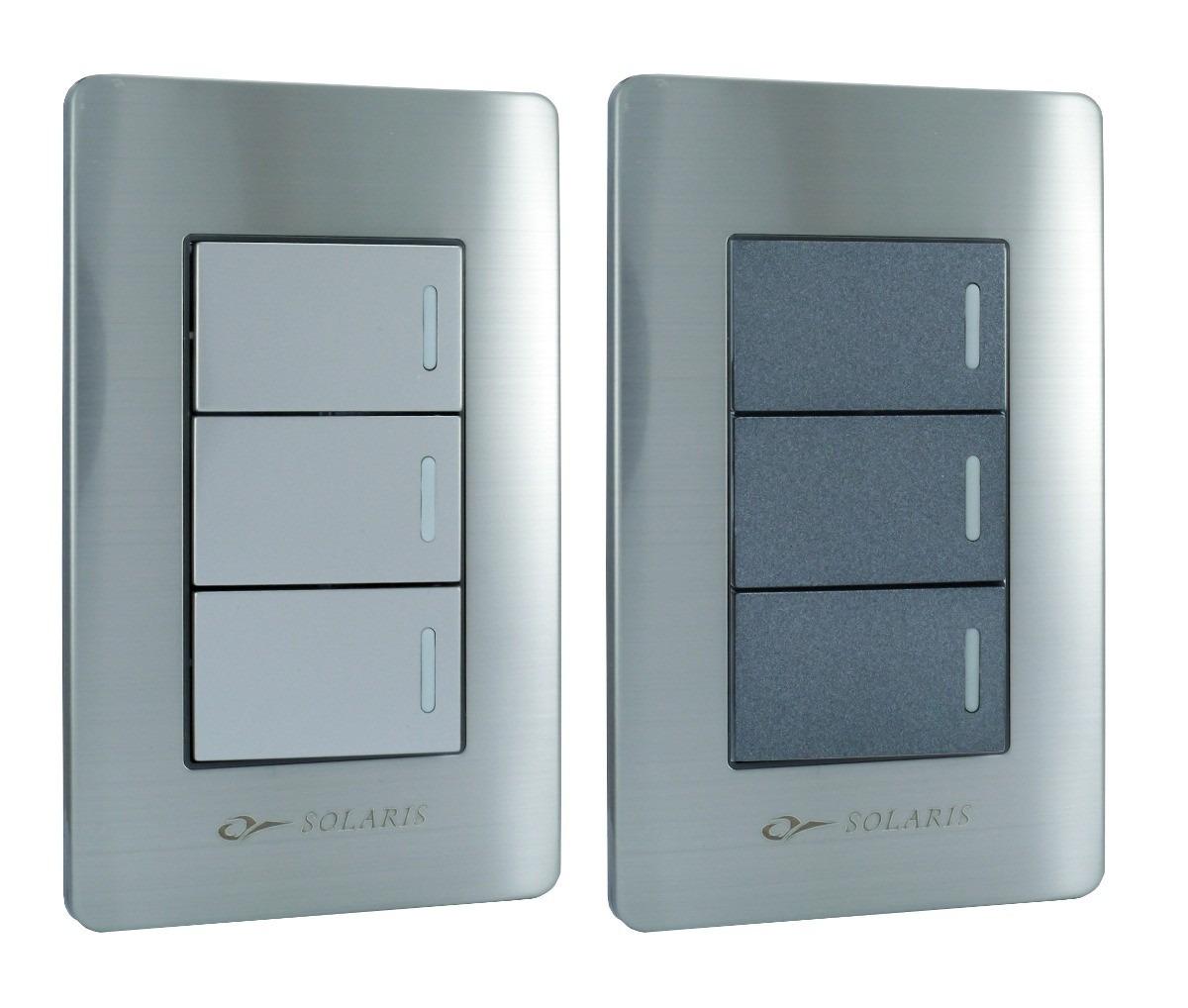 Contactos y apagadores placas armadas en acero inoxidable - Placa acero inoxidable ...