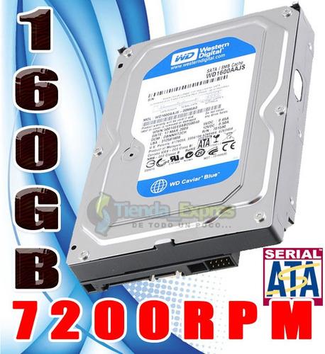 disco duro interno western digital 160gb 3.5 sata pc 7200