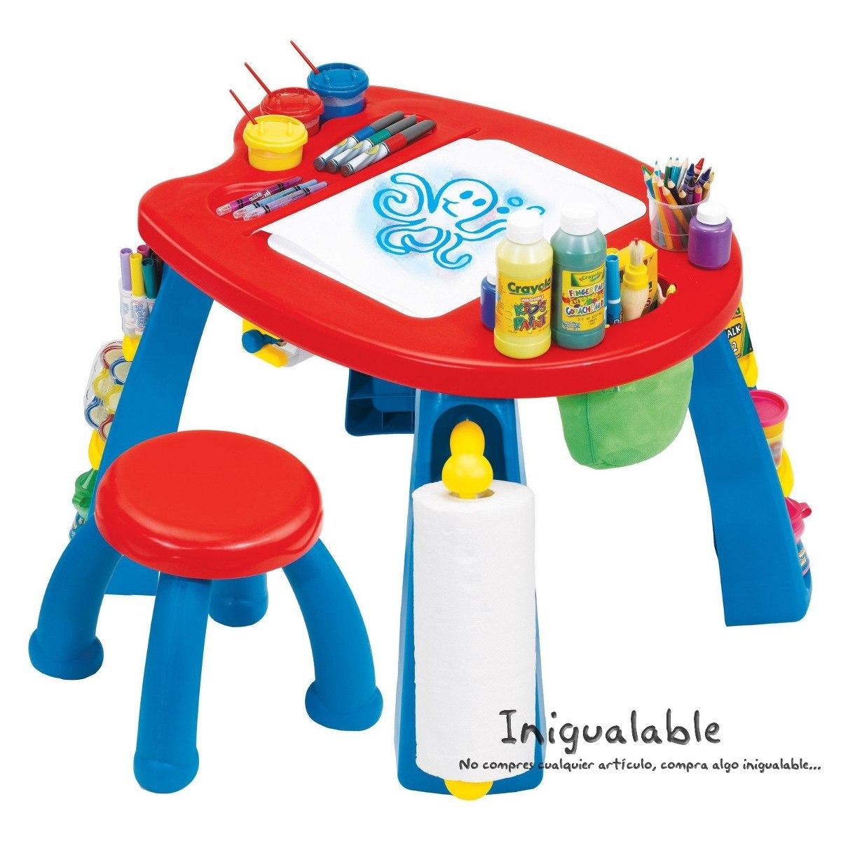 Escritorio con mesa y sillas para ni os crayola 2 300 for Mesa y sillas ninos