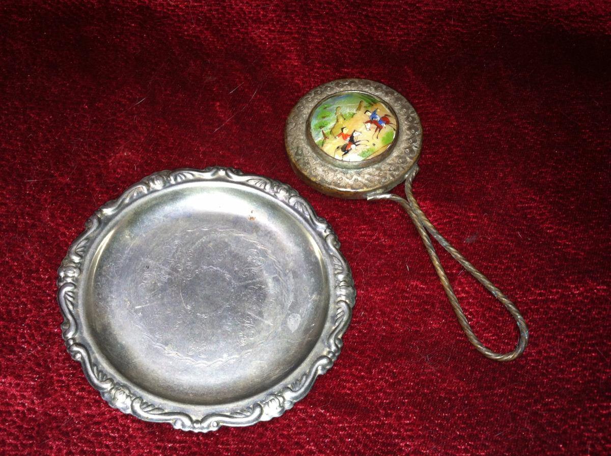 Espejo y charola miniatura ba o de plata en for Bano de plata precio
