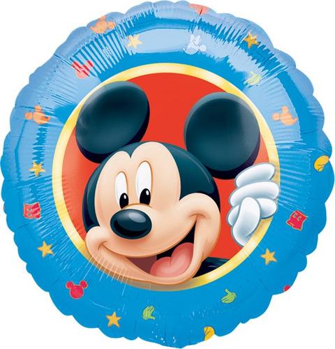 Globo Mickey Paq 10 Pzas Medida 9 Pulgadas Centro De Mesa - $ 149.02