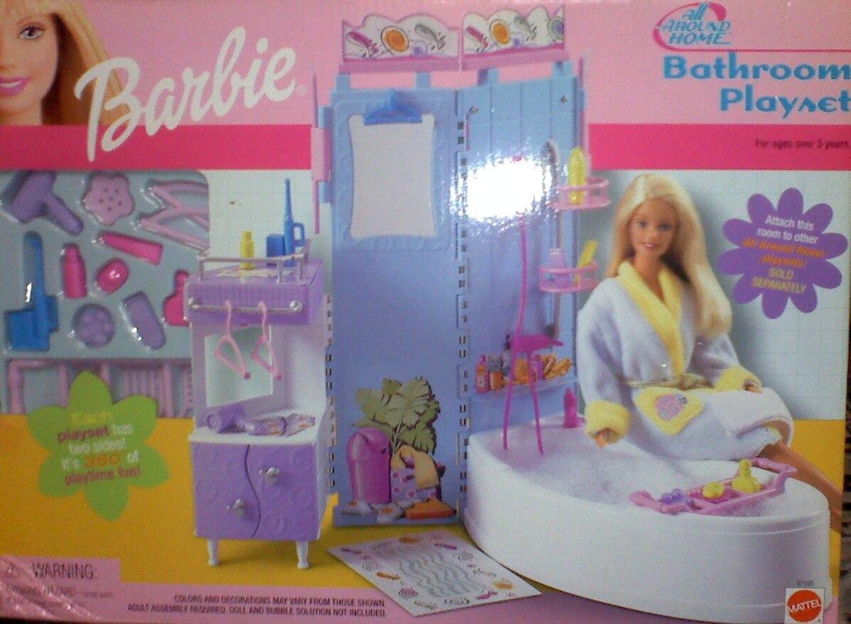 Gran set de bano muebles y accesorios para barbie for Muebles accesorios de bano