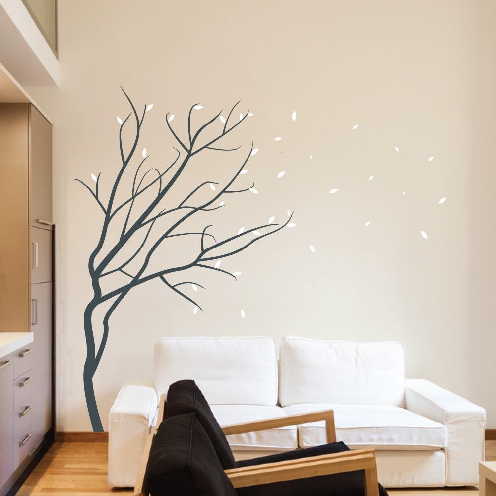 Hermoso vinilo decorativo rbol sticker sala rec mara for Sala vinilo
