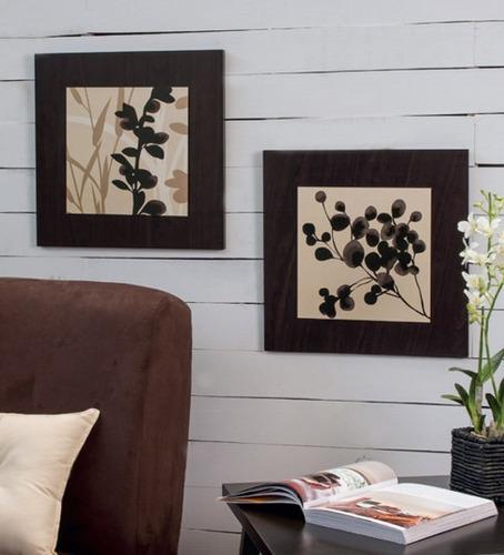 Juego de 2 cuadros decorativos dalby vianney envio gratis for Objetos decorativos para el hogar