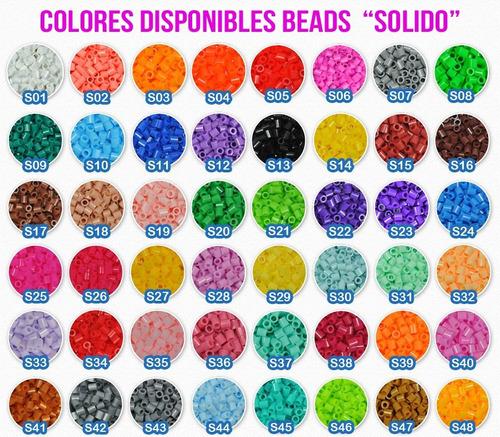 kit inicial perler incluye 1,000 beads, base grande y papel