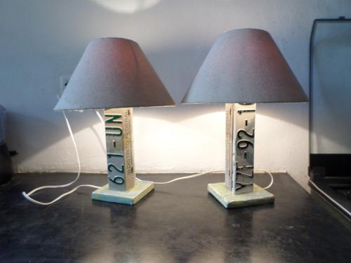 Lamparas de mesa unicas dos piezas en - Piezas para lamparas ...