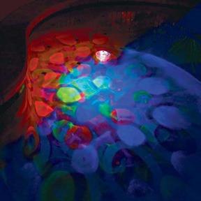 lamparas flotantes con en efectos  jacuzzi y albercas omm