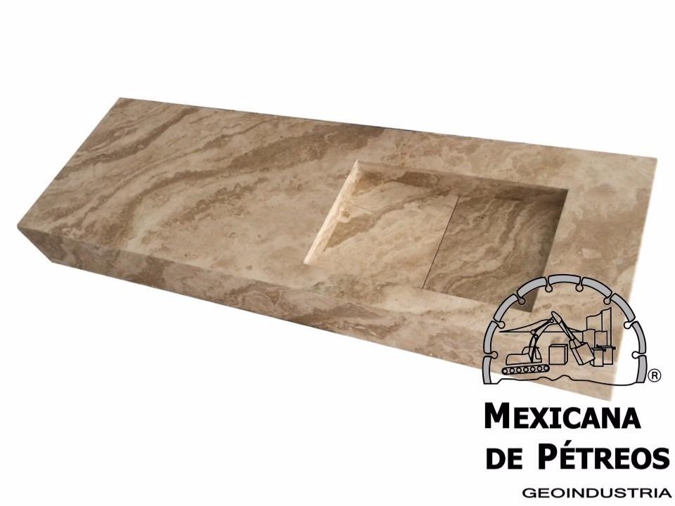 Lavabos Para Baño México:Lavabo Minimalista De Mármol Travertino Serpentino Para Baño – $