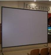 lienzo para pantalla de video proyeccion modtl 120 250x180cm
