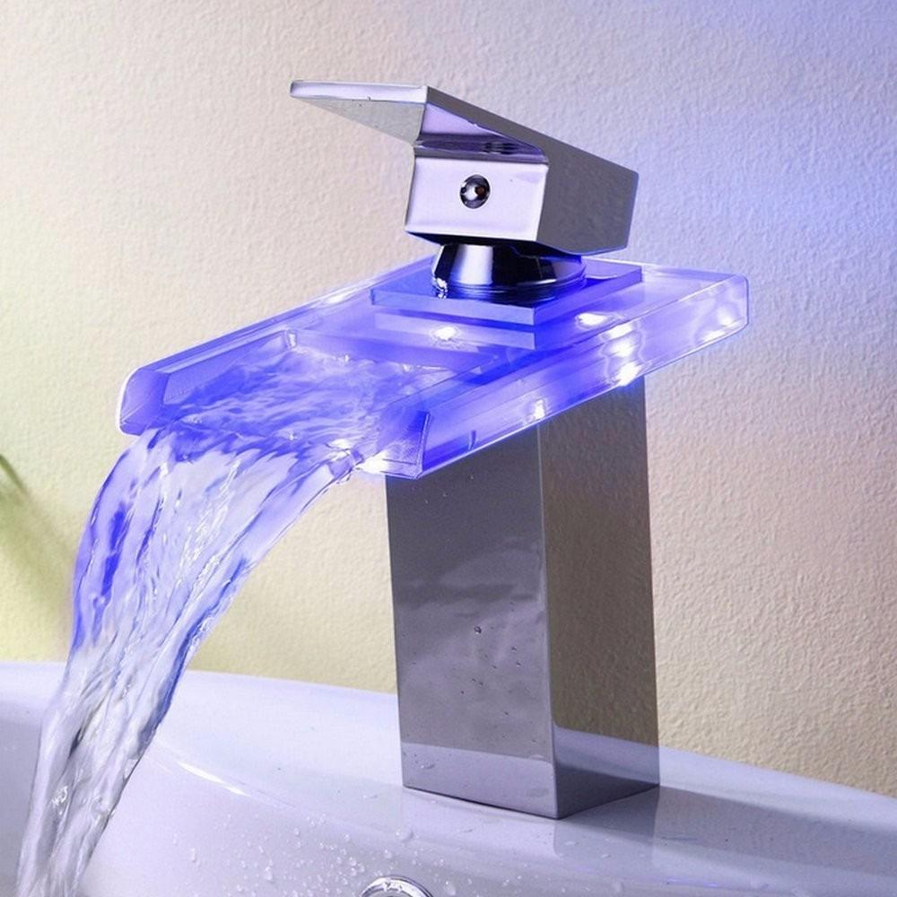 Llave una manijgrifo para ba o luz led cambio de color - Llaves de luz precios ...