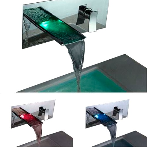 Griferia Para Baño Mercado Libre:llaves para baño con led grifo lavabo cambia de color vv4