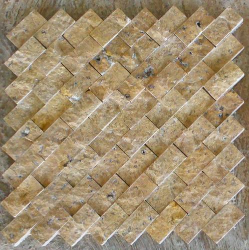 Loseta marmol travertino acabado rustico ideal p fachadas for Marmol travertino precio