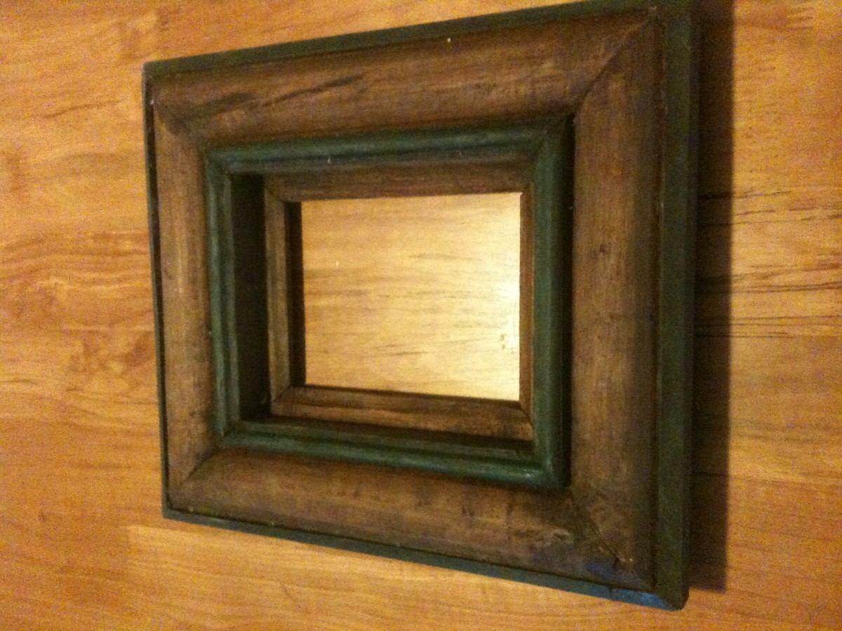 Marco de madera para fotografia o espejo en for Espejos redondos con marco de madera