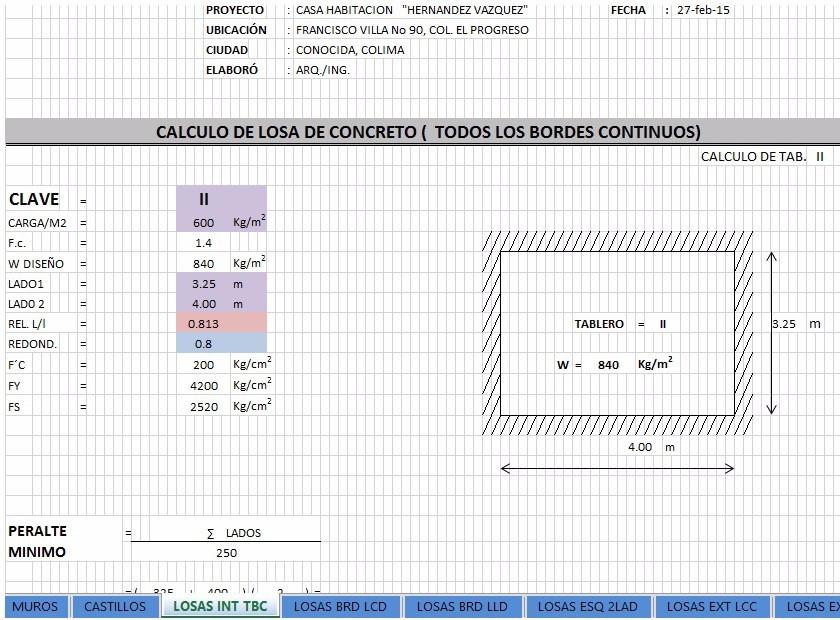 Memoria De Diseño Estructural De Casas Habitación - $ 450 ... - photo#19