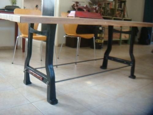 Mesa comedor 8 personas estilo industrial antiguo for Mesa comedor estilo industrial