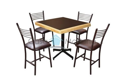 Mesa con sillas para bar restaurante cafeteria cocina - Mesa cocina con sillas ...