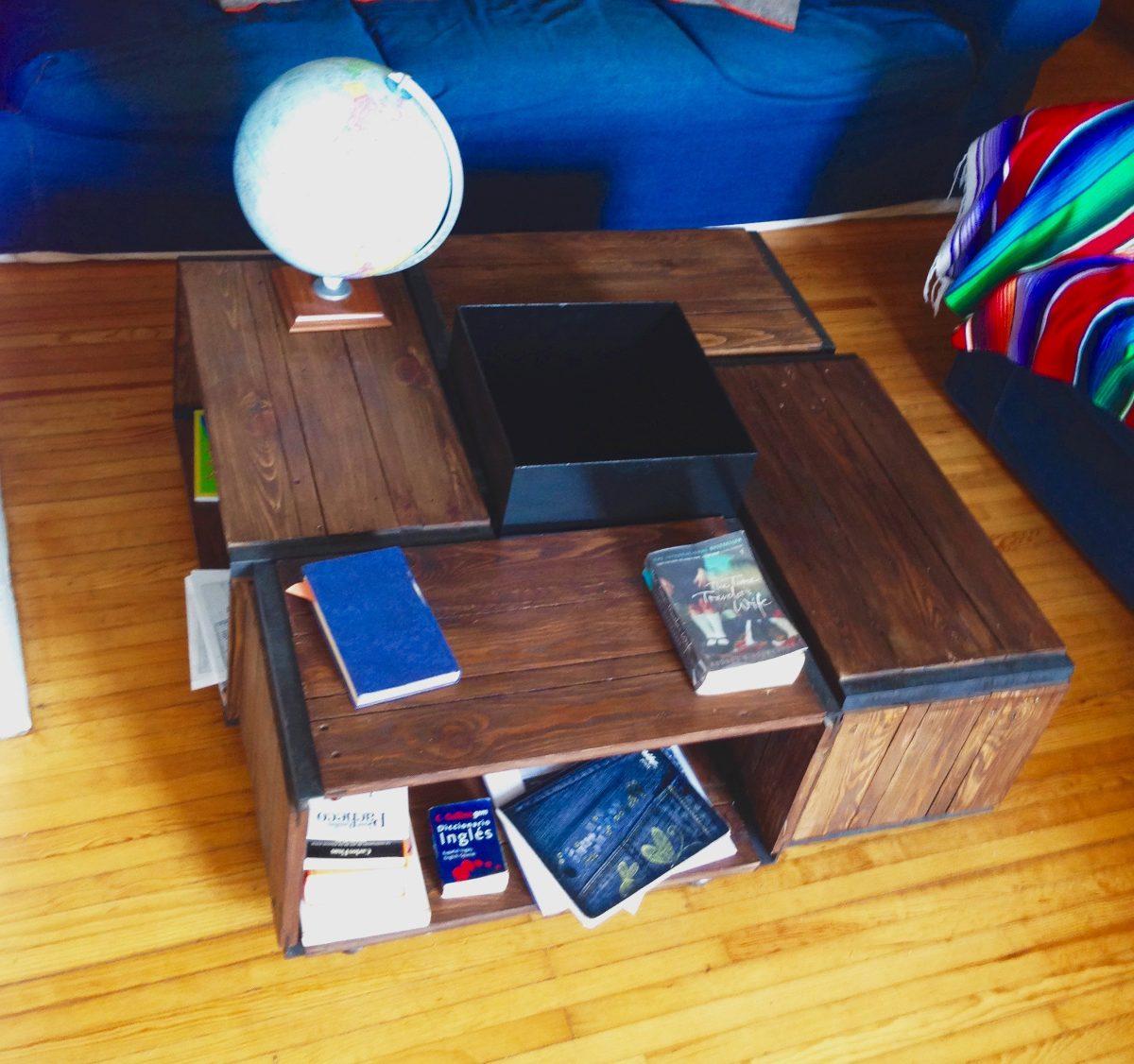 Mesa de centro huacalli de madera reciclada 4 en mercado libre - Mesa madera reciclada ...