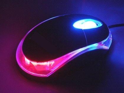 mini mouse optico usb 800 dpi diseño 3d led multicolor pc aa
