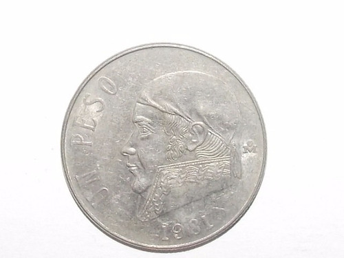 1 peso mexicano: