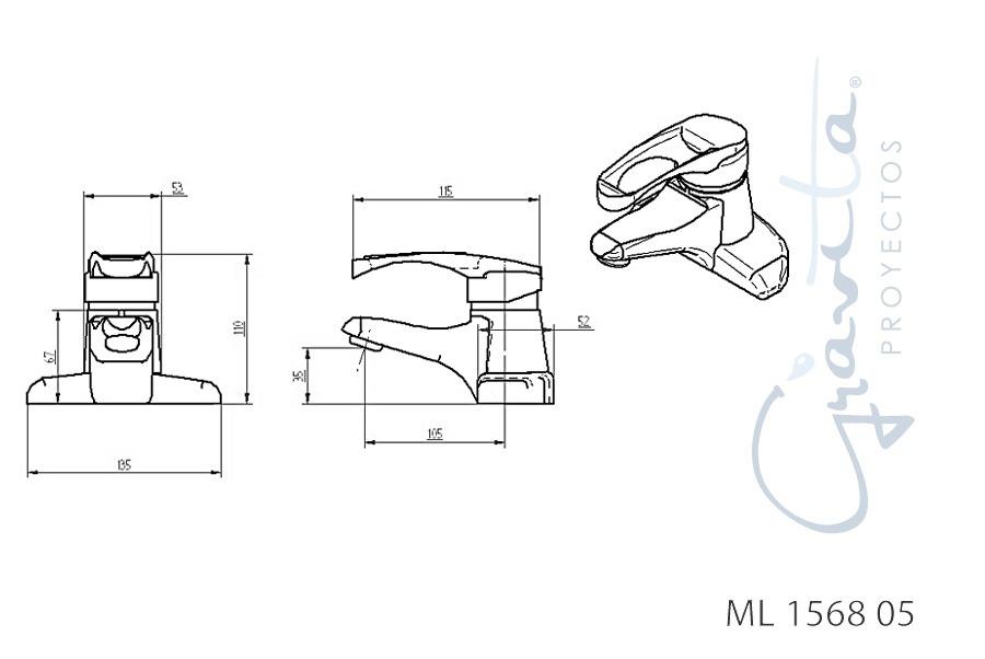 Muebles Para Baño Gravita:Monomando Bajo – Grávita – $ 1,26672 en Mercado Libre