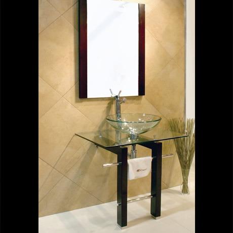 Mueble con lavabo y espejo de cristal modelo vigo for Mundo mueble vigo