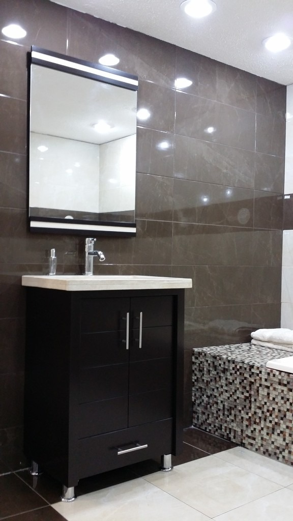 Lavabos Para Baño Mercado Libre:mueble para baño chocolate mdf con lavabo de marmol teresa