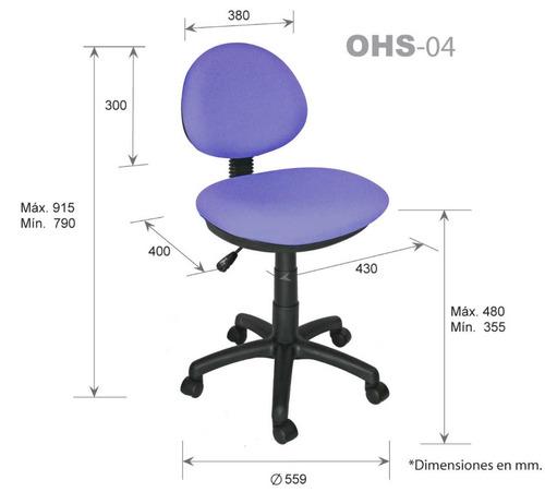 Silla secretarial operativa para oficina computadora for Sillas para oficina precios