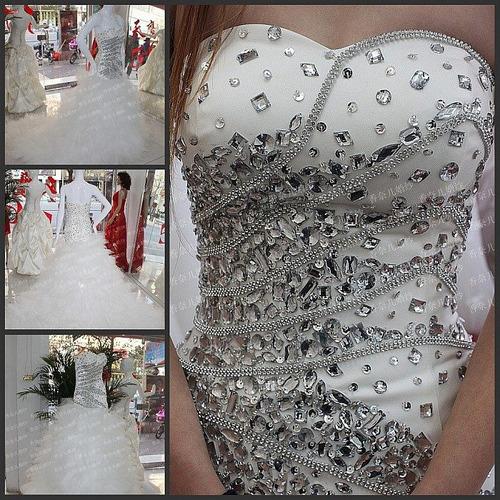 pedrería d acrílico con orificios para bordar vestidos