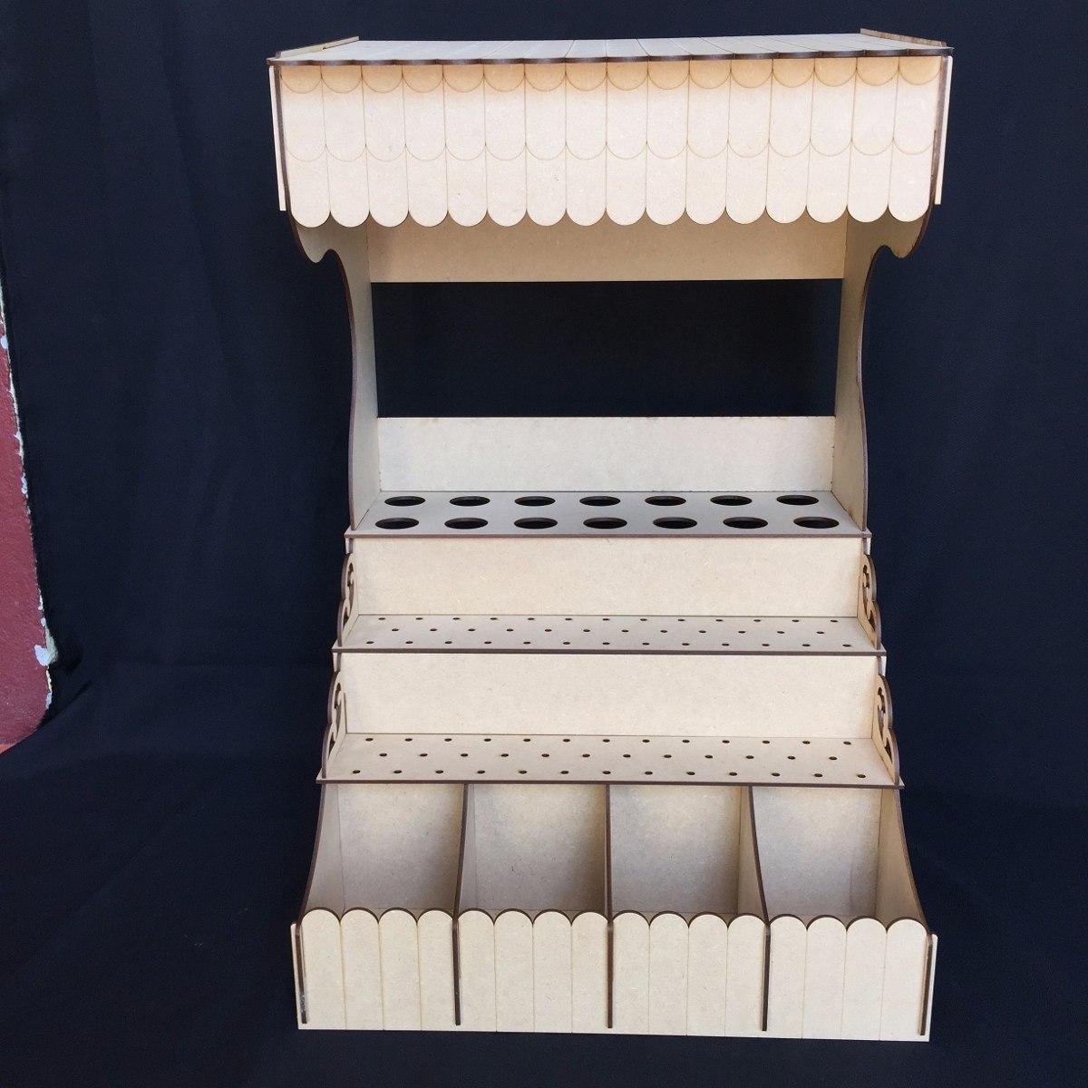 Quiosco para mesa de dulces y paletas base mdf gmbs025 for Como construir un kiosco en madera