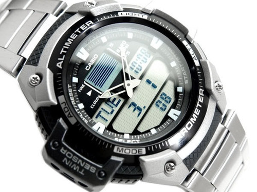 reloj casio sgw400 acero altimetro barometro termometro