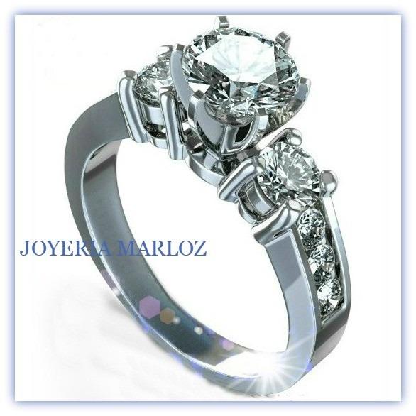 Remate de anillo de compromiso oro blanco 10kt 1 998 for Precio rodiar anillo oro blanco