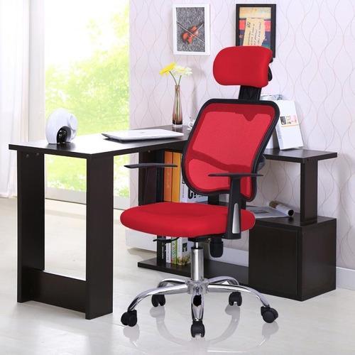 Silla ejecutiva moderna para escritorio rojo 2 for Sillas escritorio modernas