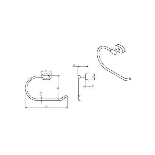 Muebles Para Baño Gravita:Toallero De Semiargolla Accesorio Baño Ab 19161 57 Gravita – $ 1,331