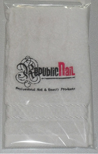 toallitas faciales bordadas c/ logo personalizado p/ empresa