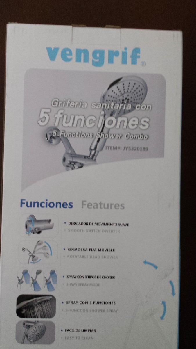 Regaderas Para Baño De Telefono:Vengrif Regadera Fija Más Tipo Telefono 3 Tipos De Chorro – $ 49900